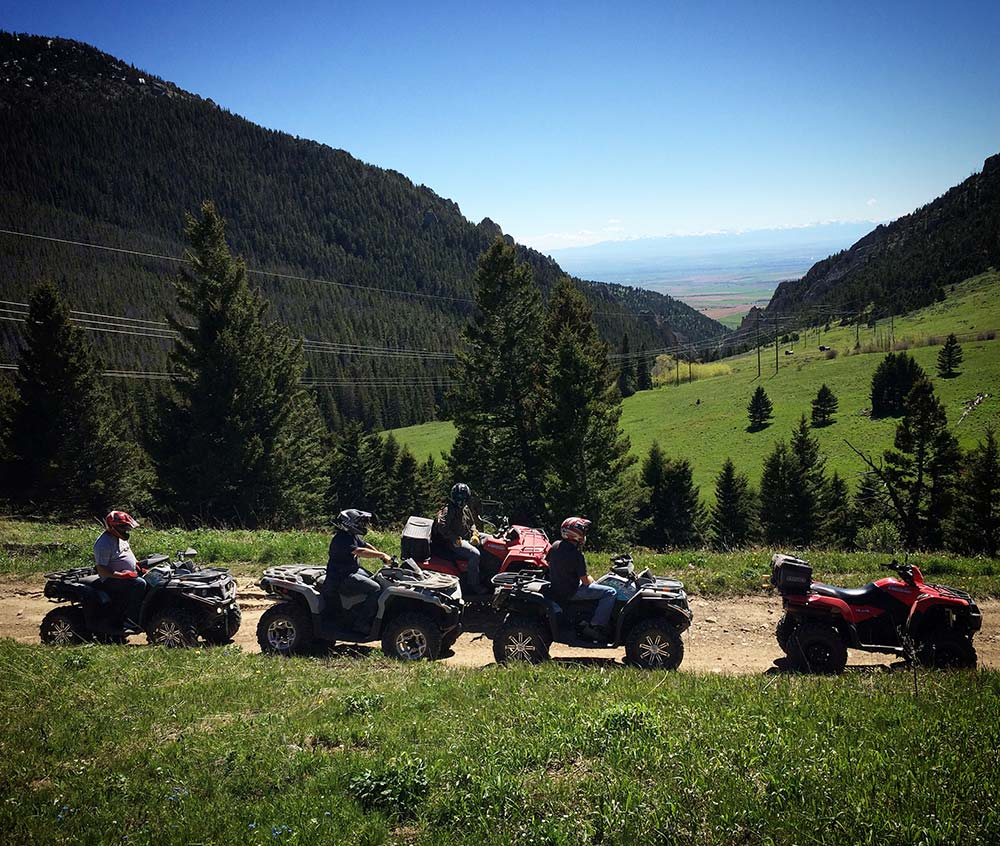 ATVs on the trail in montana