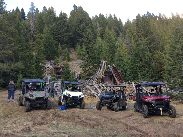 Side by Side hangout in montana forest
